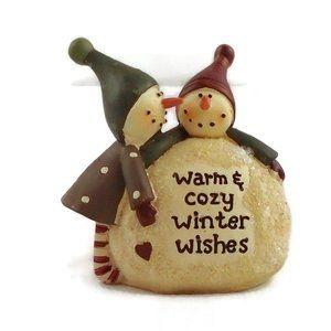 Snowmen Winter Figurine Statue Holiday Decor